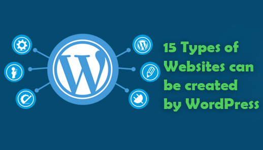 15 Types of Websites can be created by WordPress