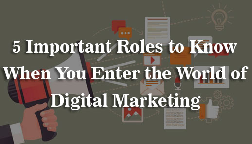5 Important Roles to Know When You Enter the World of Digital Marketing